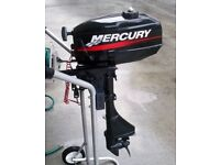Mercury 2.5hp outboard engine 2 stroke dingy engine boat engine good condition