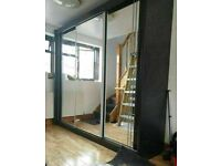 💥💯MEGA SALE SALE 2020 ON 2/3 DOORS SLIDING WARDROBE WITH FULL MIRRORS ALL SHELVES & RAILS INCLUDED