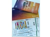 2x ADULT TICKETS - INDIA vs ENGLAND ODI @ LORDS JULY 14 - UPPER COMPTON STAND