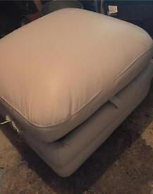 White foot stool with storage