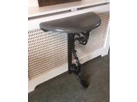 Half Round Bar / Side Table On Cast Iron Base