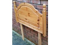 pine wood headboard for single bed. in very good clean condition.