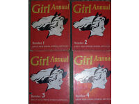 The First Four Girl Annuals (1952-5) - Good Condition For Their Age