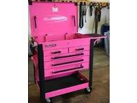 Snap On / ( Blue-Point ) Tool Box/Trolley/Roll Cart/Tool Chest - Pink - KRBC50TAPTP