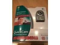 Logitech 1.3MP Silver QuickCam Deluxe for Notebooks – brand new sealed £8
