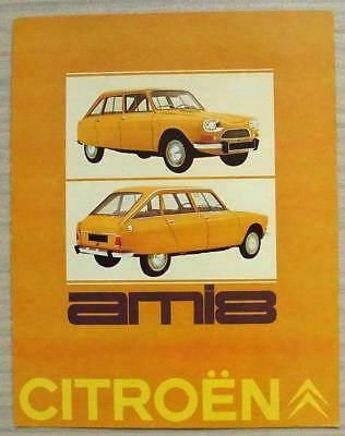 CITROEN AMI 8 Car Sales Brochure Feb 1969 DUTCH TEXT #2-69 HOL