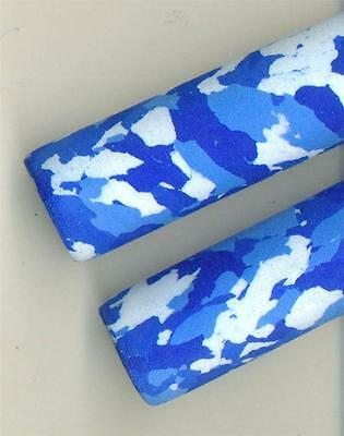 2 BLUE ARTIC CAMO EVA FOAM FISHING ROD GRIPS.  BUILDING/ REPAIRS