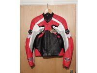Hein Gericke Pro Sports leather motorbike motorcycle jacket 40-42 UK 52 EU