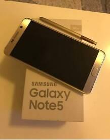 Samsung galaxy note 5 32GB dual duos SIM gold platinum new