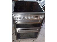 6 MONTHS WARRANTY Hotpoint EW74 60cm, stainless steel electric cooker FREE DELIVERY