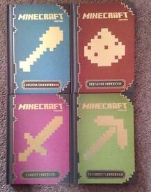 4 hardback Minecraft books