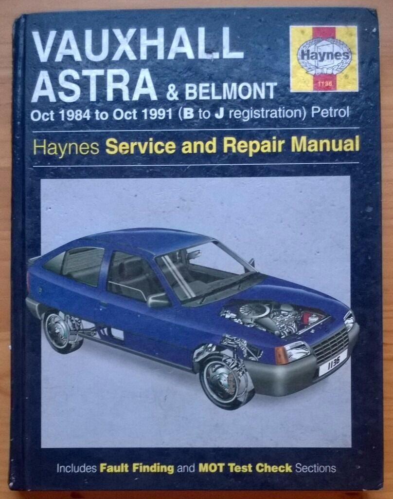 Haynes Vauxhall Astra & Belmont Service and Repair Manual