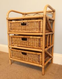3 Drawer Chest of Drawers Wicker / Rattan