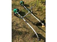 2 Qualcast Petrol strimmers brush cutter both good working order bull horn handles mower lawnmower