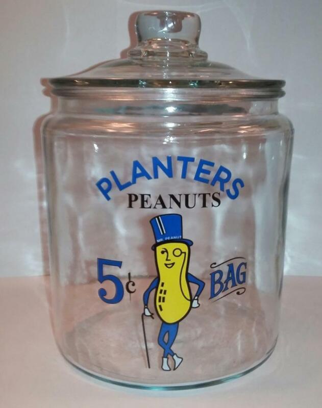 A Super Nice Mr Peanut Glass Counter Jar