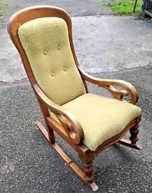 Antique mahogany rocking chair