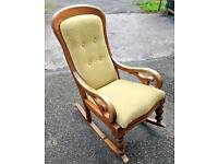 Antique mahogany rocking chair