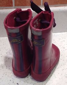 Child's Joules wellie boots size 4