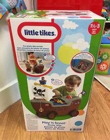 New Little Tykes play n scoot pirate ship new in box