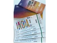 4x ADULT TICKETS - INDIA vs ENGLAND ODI @ LORDS JULY 14 - UPPER COMPTON STAND