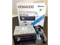 Kenwood KDC-BT40U CD MP3 USB Bluetooth Handsfree iPod iPhone Car Stereo