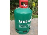 Patio BBQ gas large bottle 13kg - full. Gas track gauge fitted