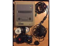 Nintendo SNES with 2 Controllers and all cables