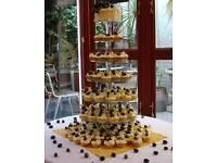 May pole acrylic cupcake tower