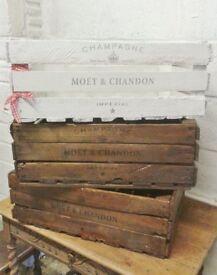 Large Rustic Wooden Crate Apple Box Veg Box