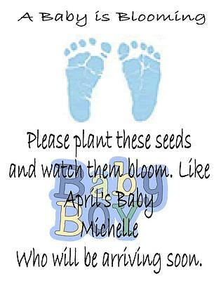 Baby Shower Seed Packets Favors Blue Footprint Set of 30](Baby Shower Stuff)