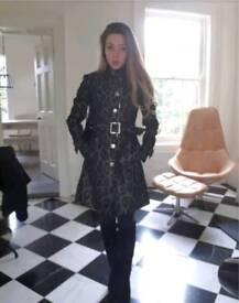 Karen Millen leopard print coat jacket size 8