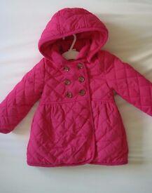 Baby girl coat Girls Jacket NEW miniclub 1-1 1/2 years