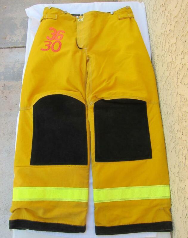 Lion Janesville Firefighter Fireman Turnout Gear Pants Size 36x30 - [D] (N3)