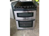 6 MONTHS WARRANTY Tricity Stainless Steel, 60cm, double oven electric cooker FREE DELIVERY