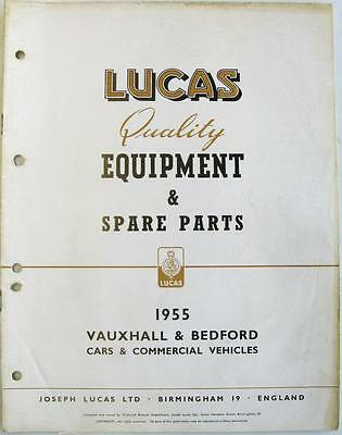 Lucas VAUXHALL BEDFORD Cars Electrics Equipment & Spare Parts 1955 #CCE904D