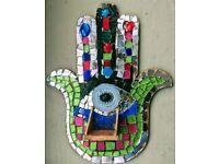 Mosaic Hamsa workshop