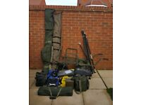 Complete carp fishing tackle set up / job lot