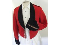 Vintage 1950's West Kent Regiment British Army Officers No 5 mess dress jacket,trousers & waistcoat.