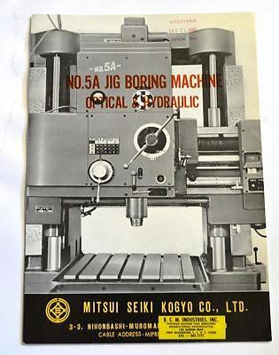 Mitsui Seiki 5a Jig Boring Machine Brochure