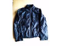 Next Men's Leather Jacket Black Vintage Style Size XL