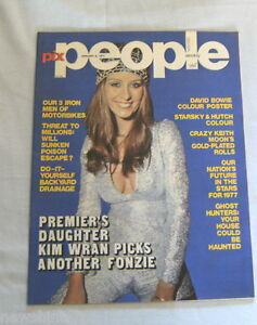PIX PEOPLE MAGAZINE - JANUARY 6, 1977, DAVID BOWIE CENTRE PAGE POSTER