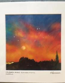 Edinburgh Summer Glow painting