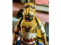 Hot Toys Rare Star Wars Gold Stormtrooper