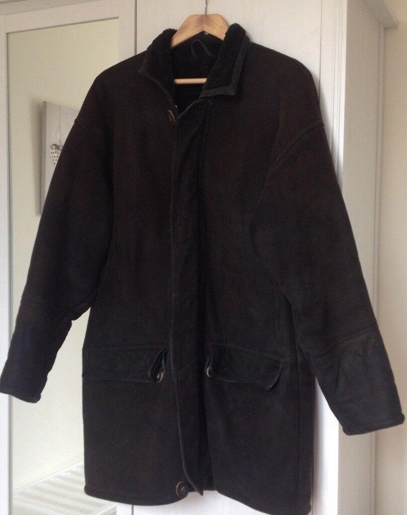 Retro Barneys New York suede coat