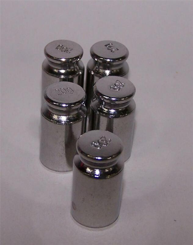 Lot of 5 - 20 gram  Calibration Test Weights