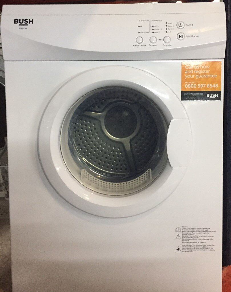 Bush V6SDW 6kg Sensor Drying Vented Tumble Dryer with Reverse Action 1 YEAR GUARANTEE