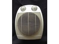 Portable electric heater and fan
