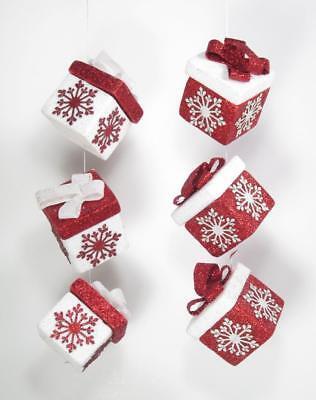 Gift Box Christmas Ornaments Set of 2 Christmas Holiday Decor