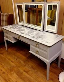 Stag minstrel Dressing table with mirrors*upcycled & unique*