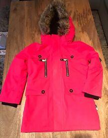 Parker Pink Rose Girls Jacket with Gloves